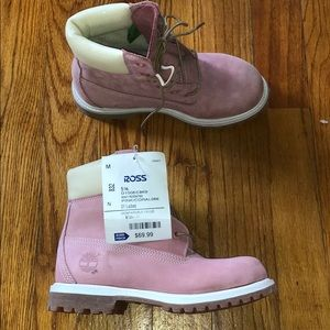 Pink Ladies Timberlands